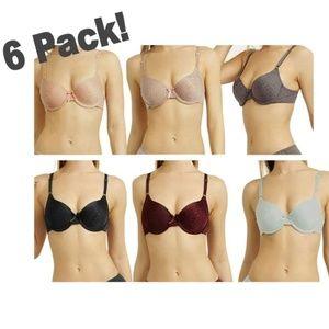 6 Pack Jacquard Printed Women's Bra